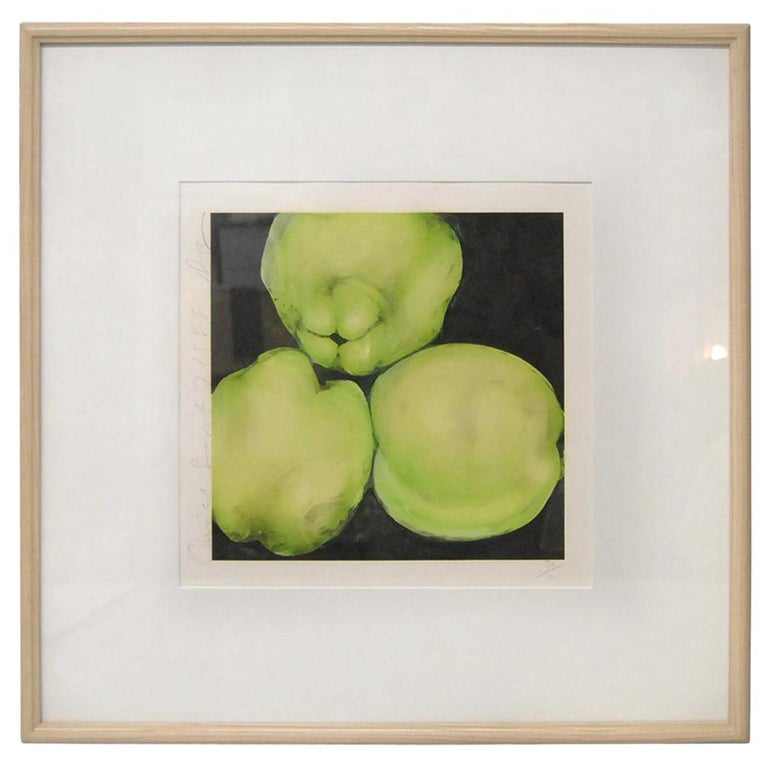 Donald Sultan Print 'Quince' Signed and Numbered 36/100, September 7, 1988 For Sale