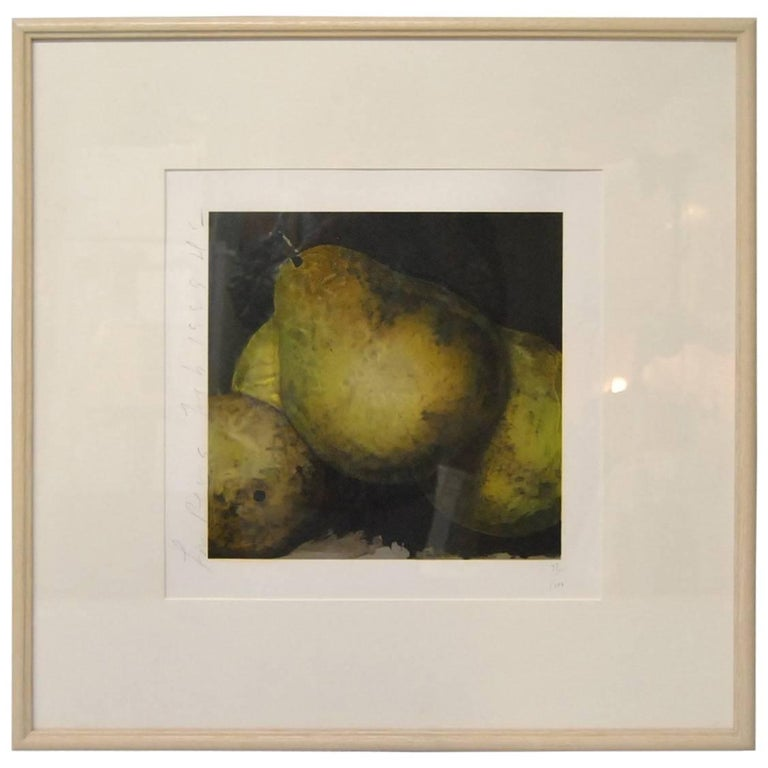 "Donald Sultan Print ""Four Pears Signed and Numbered 32/100, 1989 For Sale"