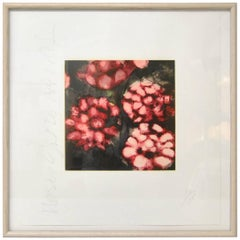 """Donald Sultan Print """"Red Roses"""" Signed and Numbered 110/125, 1992"""