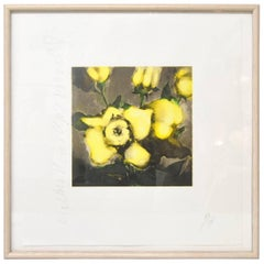 """Donald Sultan Print, """"Yellow Roses"""" Signed and Numbered 110/125, 1992"""