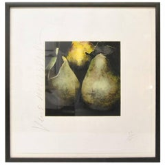 """Donald Sultan Print, """"Pears"""" Signed and Numbered 59/125, 1989"""