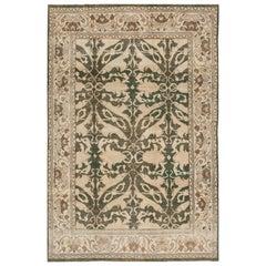 Vintage Distressed Persian Tabriz Rug