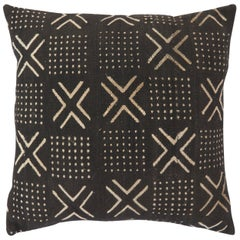 African Mudcloth Pillow with Geometric Tribal Design