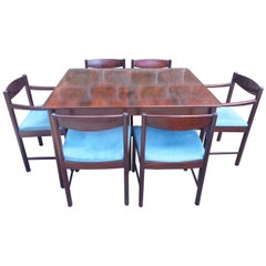 Retro 1960s Roswewood Extending Dining Table and Six Chairs by McIntosh