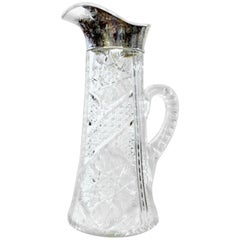 Antique American Brilliant Period Hand-Cut Crystal Champagne or Lemonade Pitcher