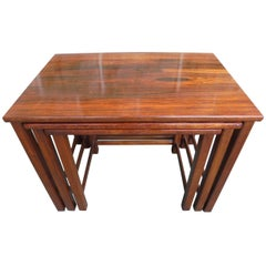 Vintage Retro Rosewood Nest Tables by Heals