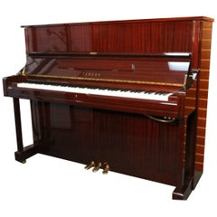 """Yamaha 1999 U1 Glossy """"Sapele"""" Mahogany Upright Piano"""