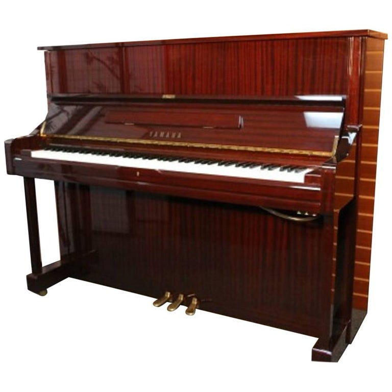 Yamaha u1 gloss sapele mahogany upright piano pristine for Used yamaha u1 price