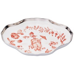 Chinoiserie German Hand-Painted Porcelain Dish Sofina Porcelain