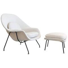 Eero Saarinen for Knoll Womb Chair and Ottoman, circa 1965