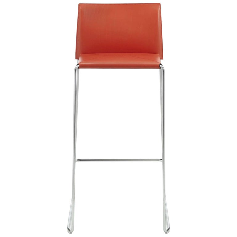 Bar Stool Italian Made Contemporary Design Leather 1