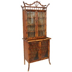 Beautiful 19th Century English Bamboo Cabinet or Bookcase