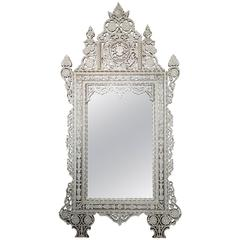 Gorgeous Large 1940s Palatial Syrian Mother-of-Pearl Mirror