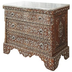 Beautiful Syrian Mother-of-Pearl Inlaid Dresser