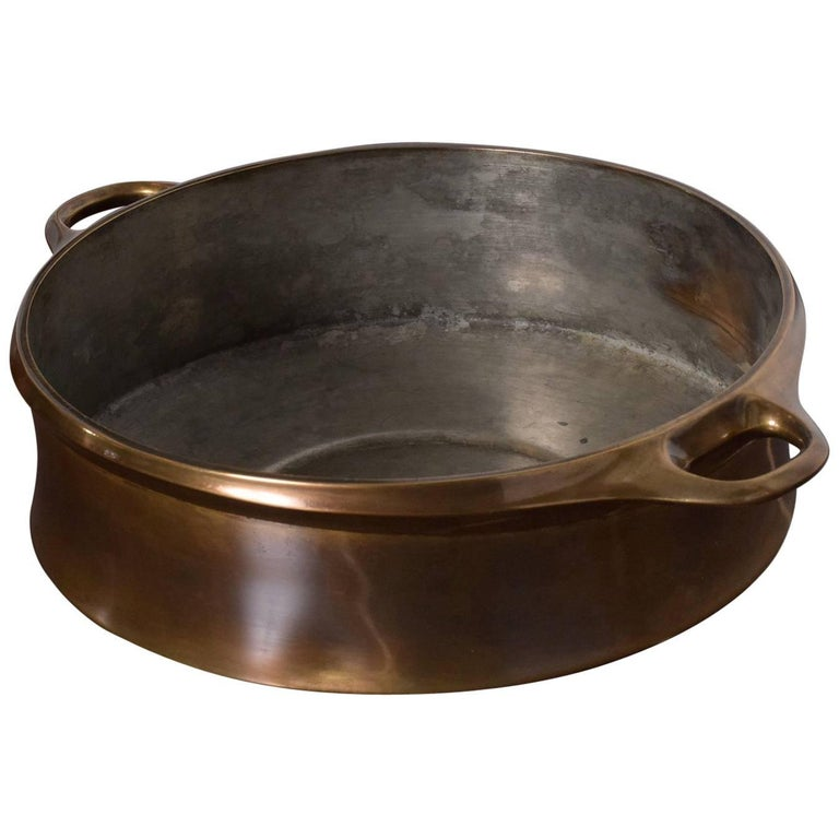 Early Dansk Pot Bowl with Bronze Finish Midcentury Danish Modern