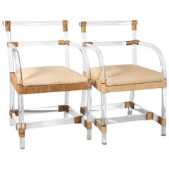 Ficks Reed Lucite Armchairs