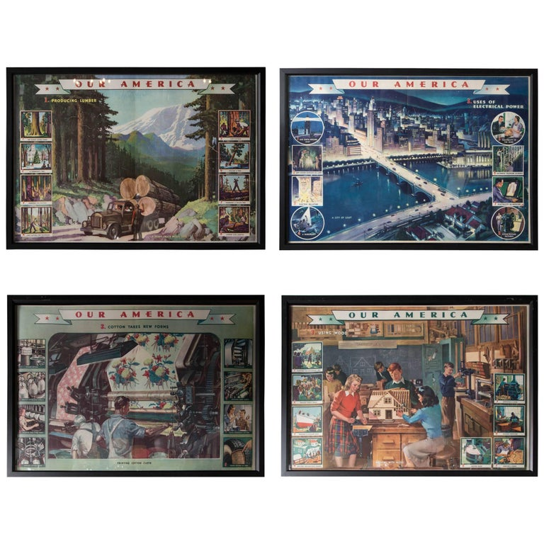 Early 20th Century Trade Lithos For Sale