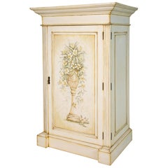 French Hand-Painted Cabinet