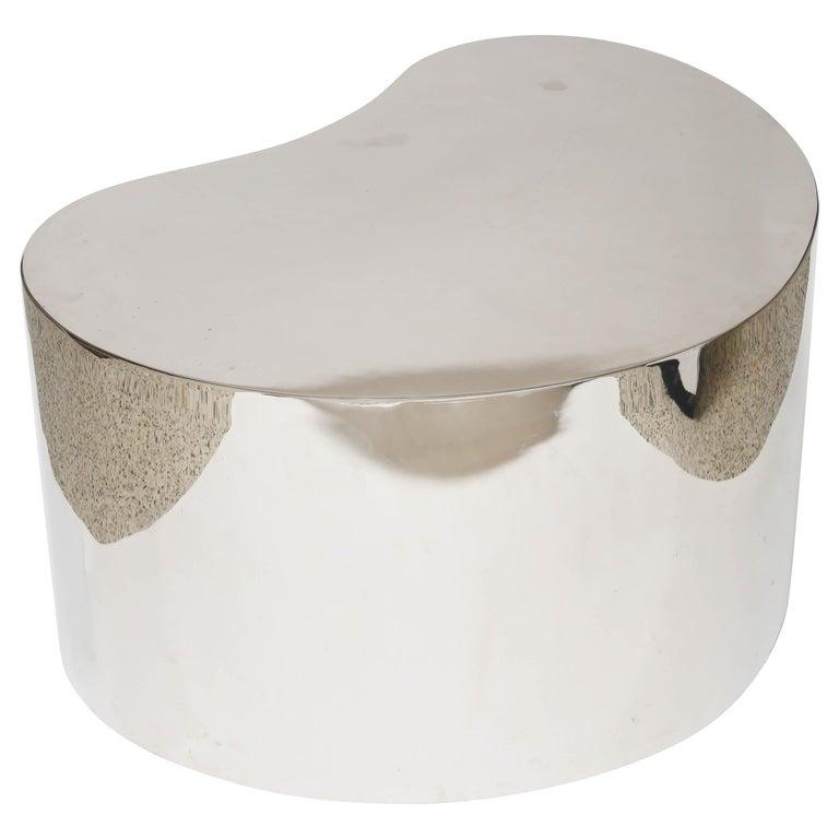 Karl Springer Steel Free Form Table For Sale