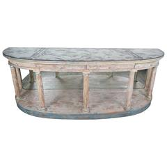 Italian Neoclassical Style Sideboard with Antique Mirrored Top