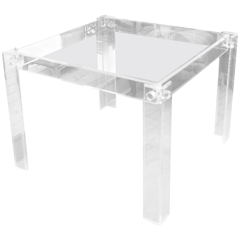 Mid-Century Lucite Game Table 1