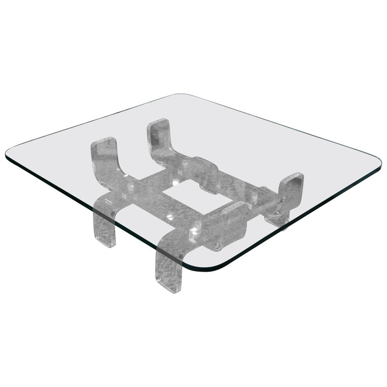 Exceptional Mid-Century Lucite Cocktail Table For Sale