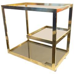 Brass Bar or Serving Cart by Cy Mann