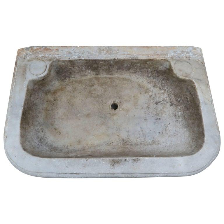 19th Century Italian Carrara Marble Sink At 1stdibs