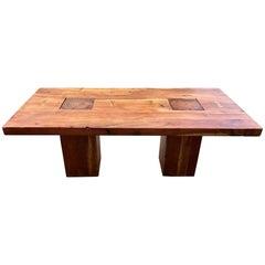 Walnut Free Edge Dining Table