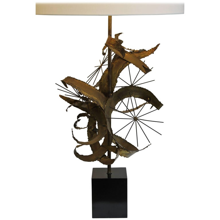 Brutalist Lamp by Laurel Lamp Mfg. Co For Sale