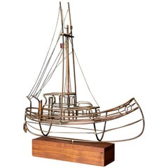 Mid-Century Modern Sailboat Sculpture