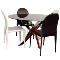 21st Century Dining Table and Stools Vanity by Italian Manufacture Bontempi
