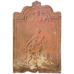 Antique Cast Iron Fireback