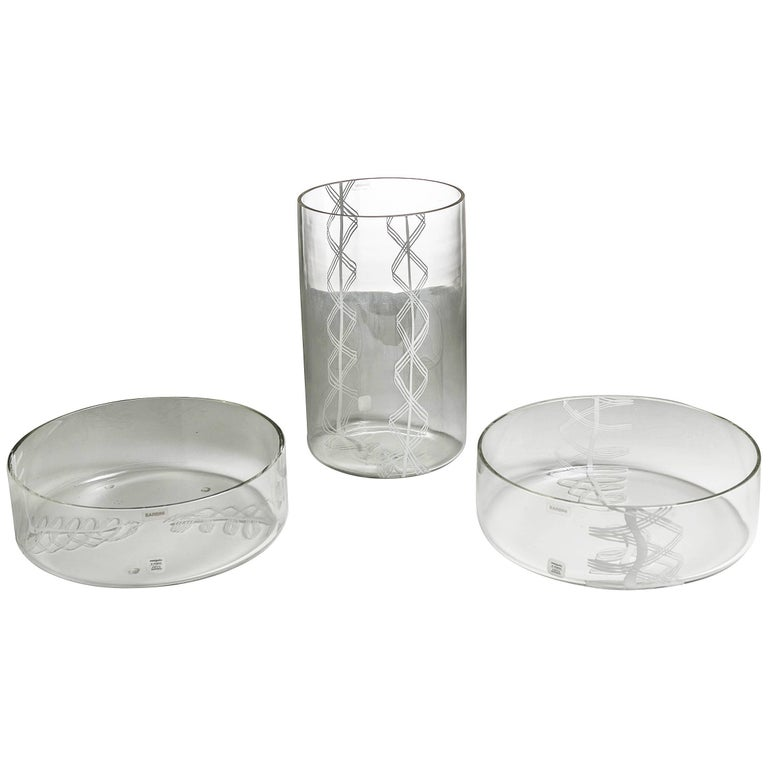 Set of Three Vases by Barbini