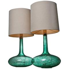 Remarkable Set of Two Table Lamps by Angelo Brotto for Esperia