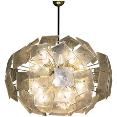 Stunning Late 20th Century, Sputnik Chandelier with Gold Murano Glasses