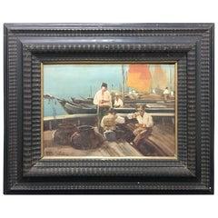 """""""Venezia"""", Paride Pozzato Oil on board, circa 1930"""
