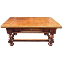 19th Century French Solid Oak Coffee Table