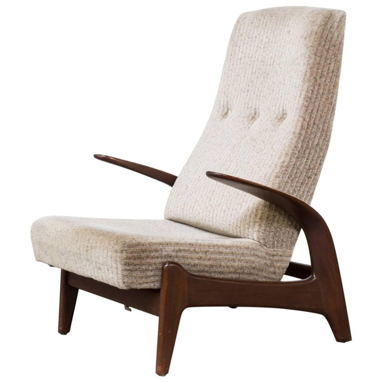 """1960s Gimson and Slater """"Rock N Rest"""" Fauteuil Adjustable"""