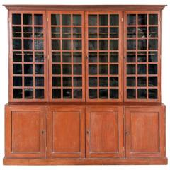 Red Painted Bookcase, circa 1910