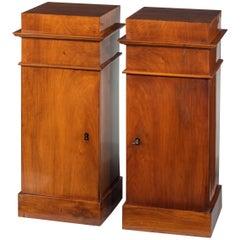 Pair of Early 20th Century Mahogany Pot Cupboards of Pillar Form