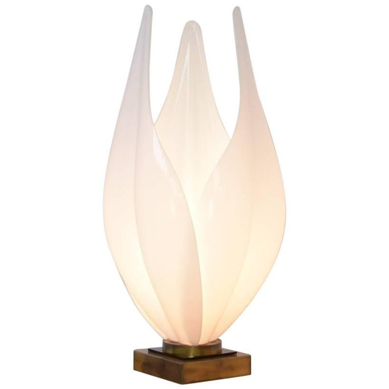 Decorative Tulip Table Lamp by Rougier