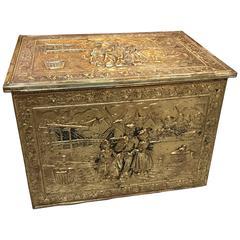 Antique Brass Tinder Box