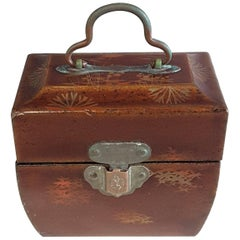 Miniature Chinese Herb/Medicinal Fitted Case with Two Glass Bottles