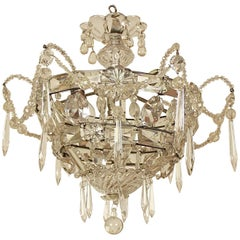 Small Louis XV Style Ceiling Pendant or 'Plafonnière'