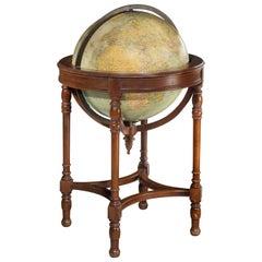 19th Century Terrestrial 18 Inch Globe by Webber Costello Co