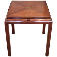 Mahogany Envelope Game Table from 1920s
