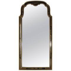 Drexel Hreitage Ebonized and Gilt Chinoiserie Decorated Wall Mirror, 1940