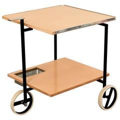 Pretty Steerable Minimalistic Bar Cart Rodolf Rochelt Werkstätten, Germany, 1968