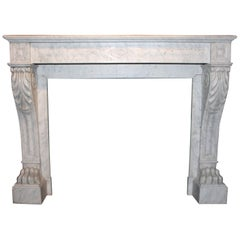 19th Century Marble Antique Fireplace mantel